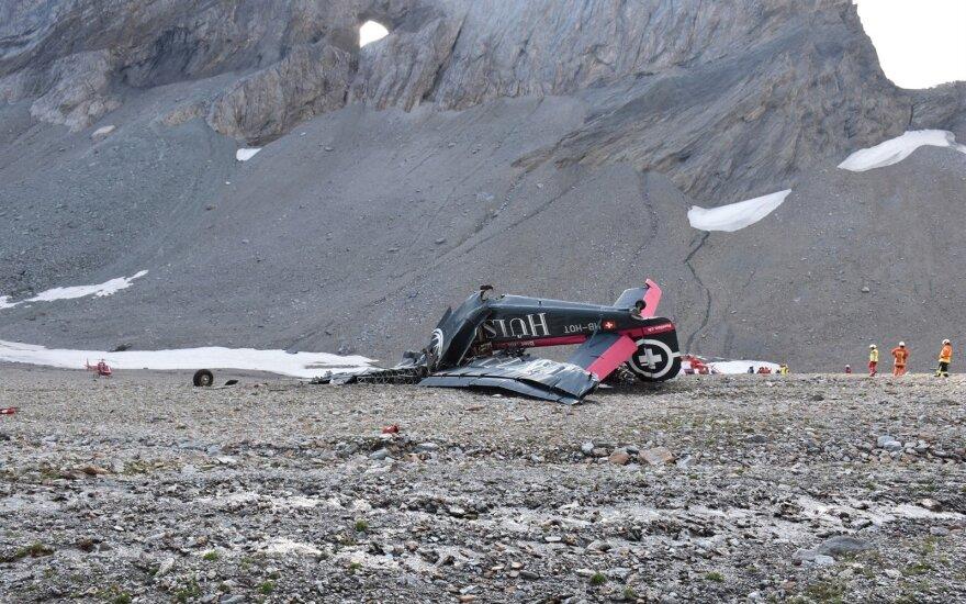 В Швейцарии разбился самолет-олдтаймер