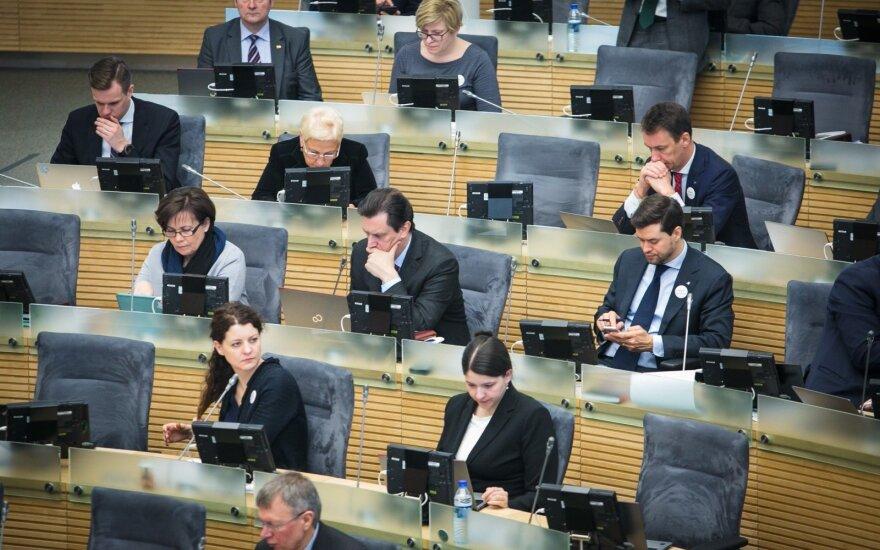Правительство Литвы - за сокращение числа членов Сейма и выборы раньше октября
