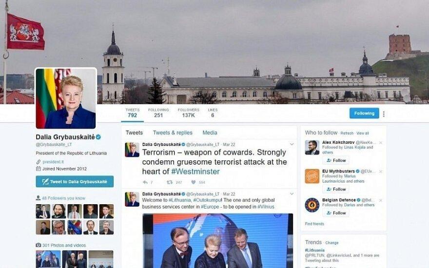 Tikra D. Grybauskaitės paskyra