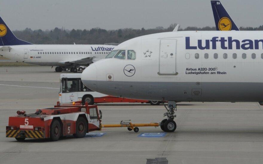 Отменены рейсы Lufthansa из Вильнюса во Франкфурт в четверг