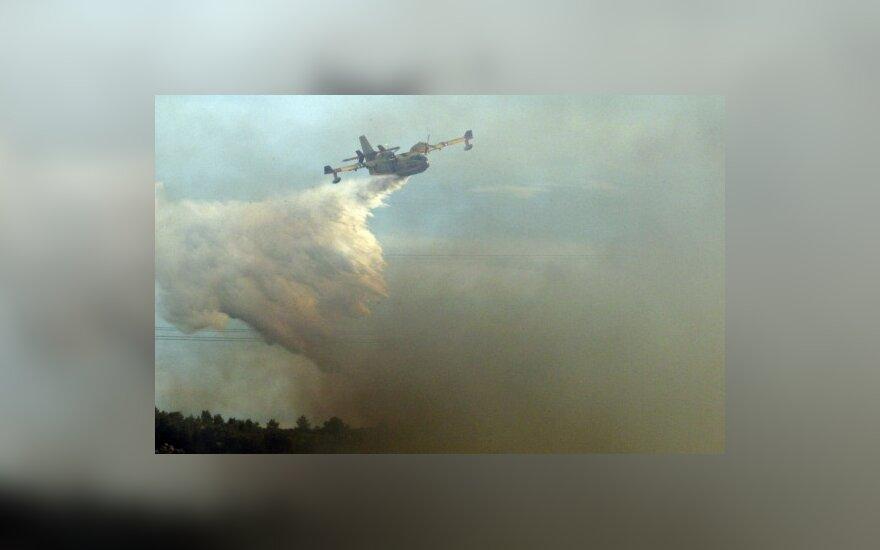 Авиация продолжает тушить пожар возле ядерного центра