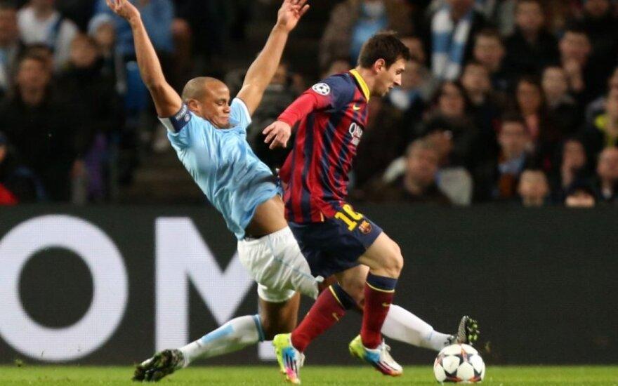 Vincentas Kompany ir Lionelis Messi