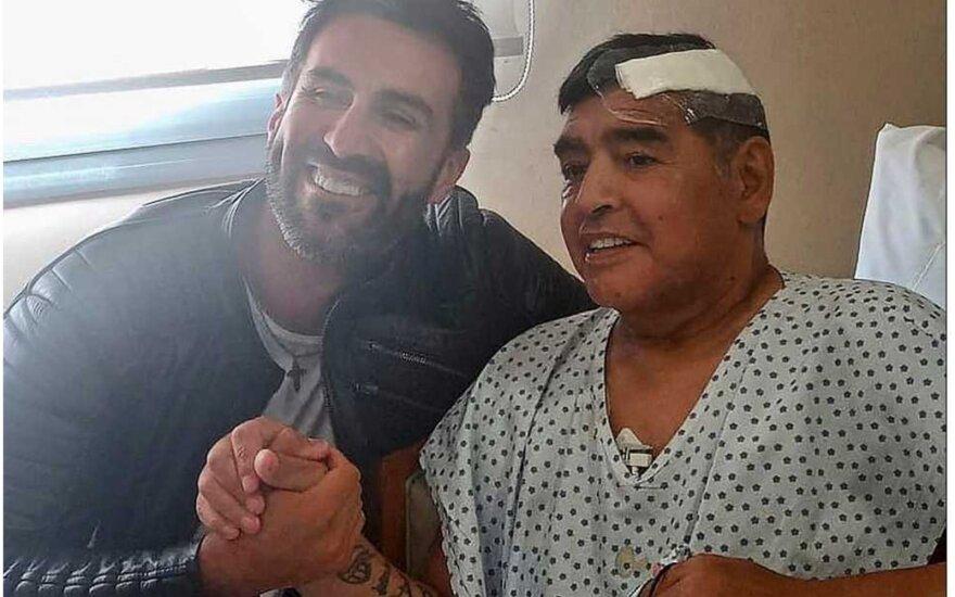 "Leopoldo Luque ir Diego Maradona / Photo: Leopoldo Luque Twitter"""