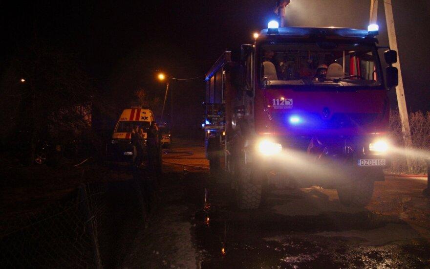 Смерть в канун Рождества: в Вильнюсе пожар забрал человеческую жизнь