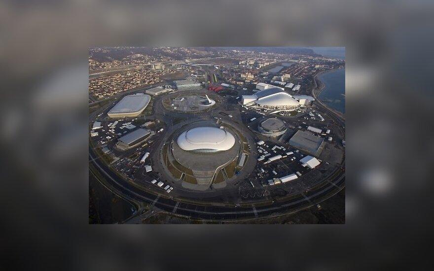 Вид на олимпийский Сочи с высоты птичьего полета