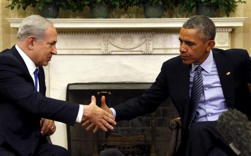 B. Obama,  B. Netanyahu