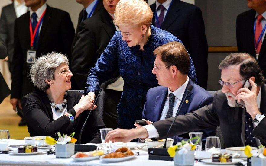 Theresa May, Dalia Grybauskaitė