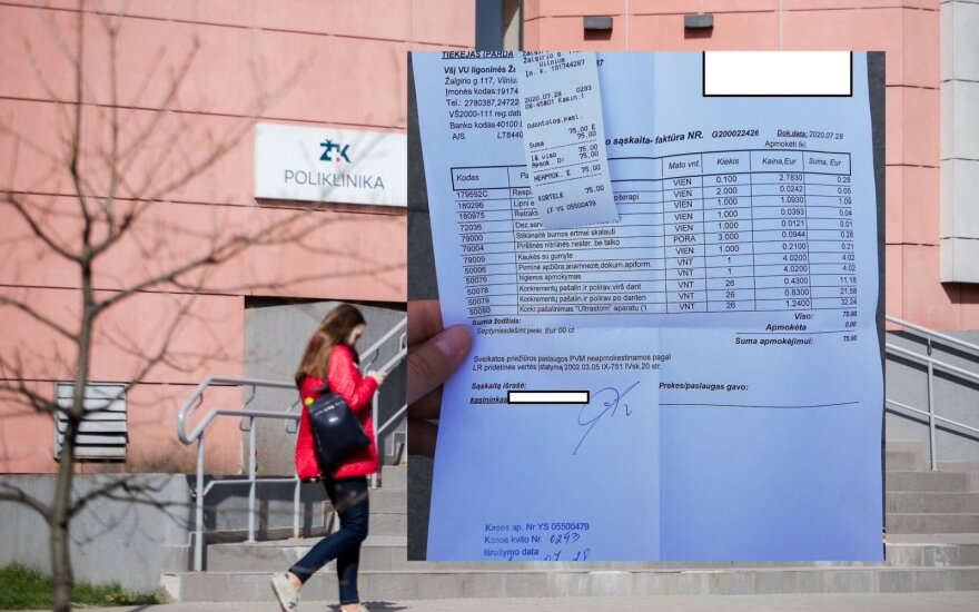 Посещение Жальгирисской клиники поразило: за обычную процедуру пришлось заплатить немаленькую сумму