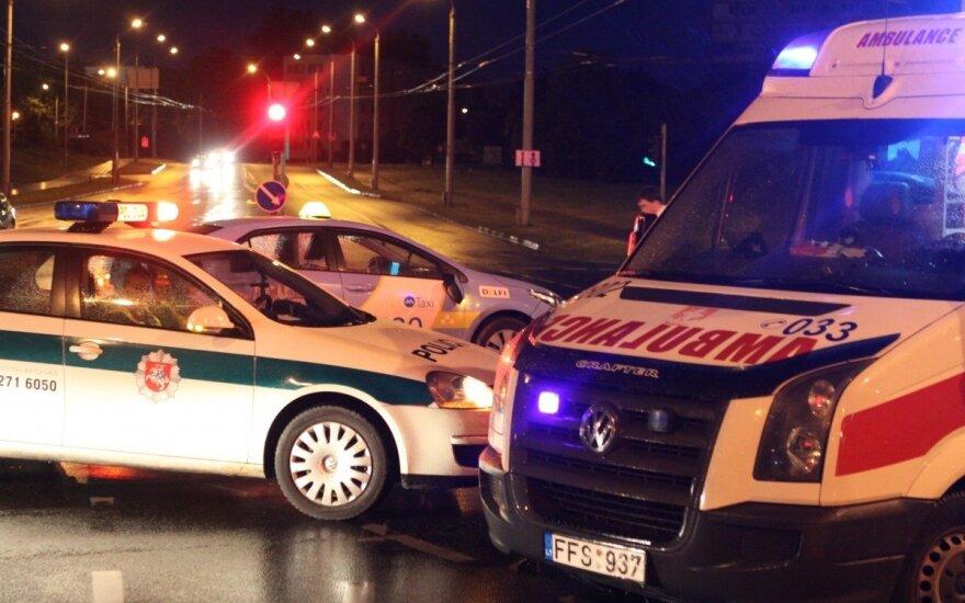 В Вильнюсе такси сбило пешехода