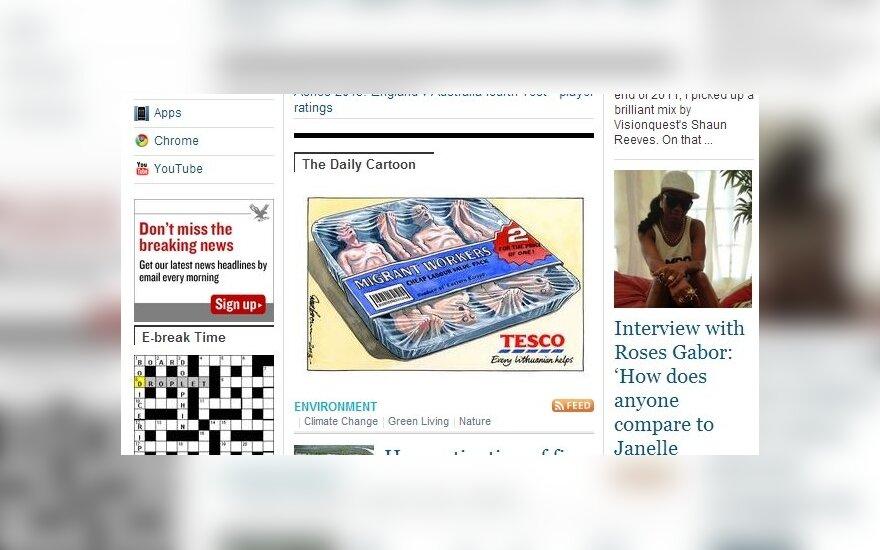 """В британской газете """"дешевые"""" литовцы стали кусками мяса"""
