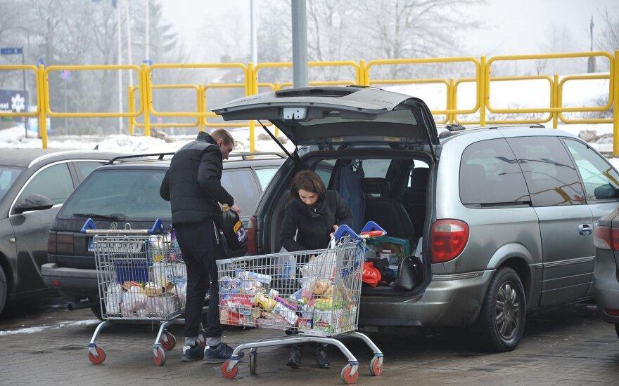 Lietuviai apsiperka Lenkijoje, Suvalkuose