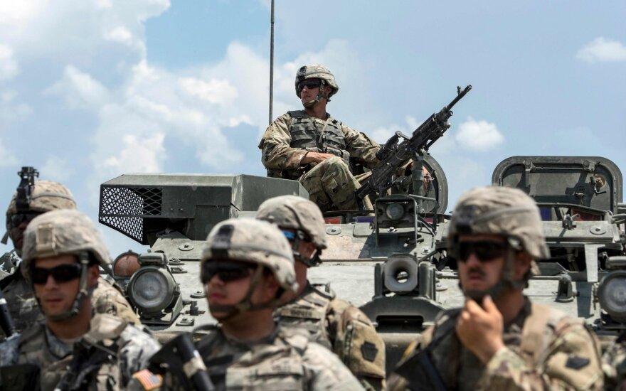 На этой неделе для учений в Литву на месяц прибывает военный батальон США