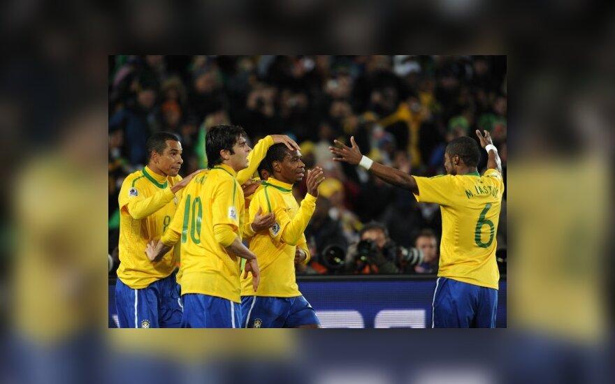 Brazilai sveikina Juaną
