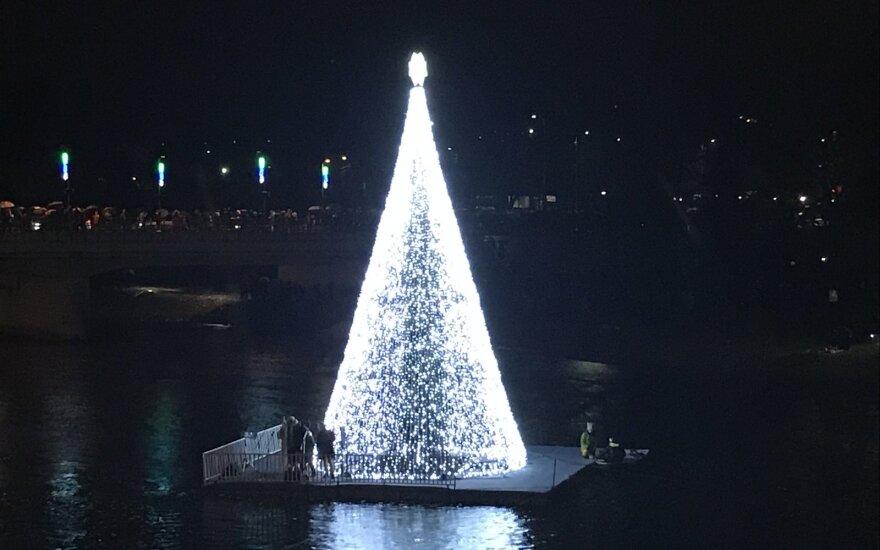 Рождественская елка в Аникщяй