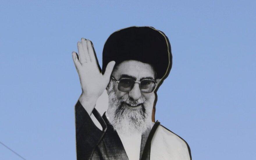 Irano ajatolos Ali Khamenei atvaizdas