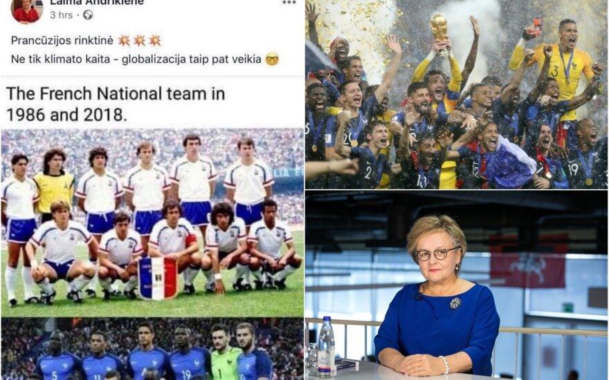 Заметка европарламентария Андрикене возмутила литовских футбольных болельщиков