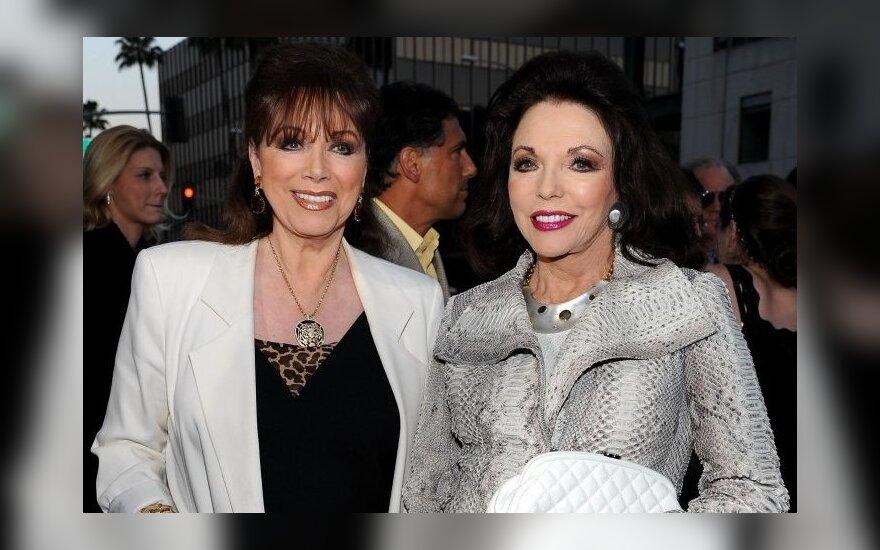 Jackie Collins (kairėje) ir Joan Collins