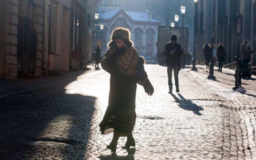 Рекордные холода в Литве задержатся
