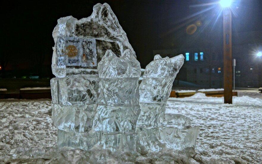 В Друскининкай проводится фестиваль ледовых скульптур