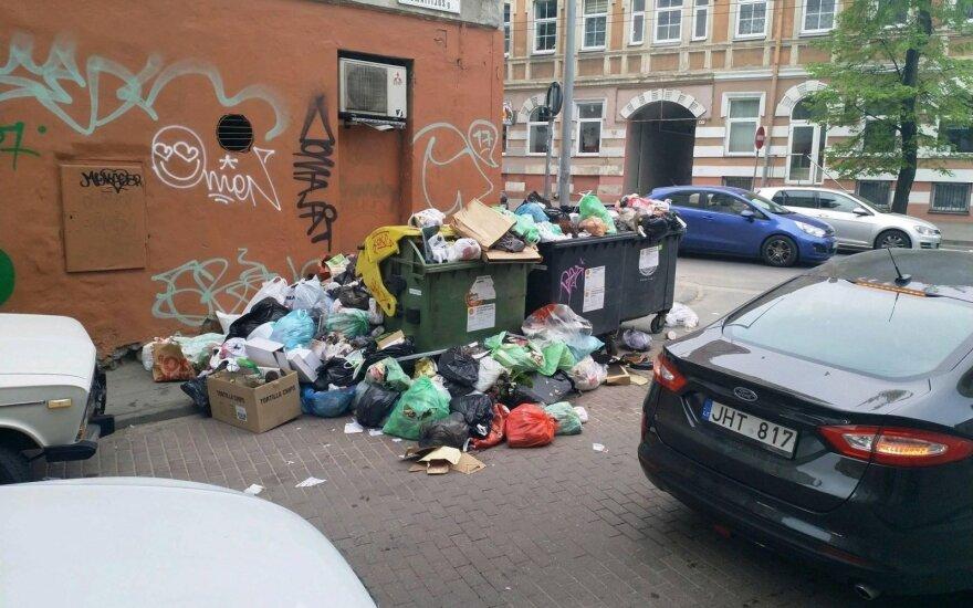 Šiukšlės Vilniuje / E. Kniežausko nuotr.