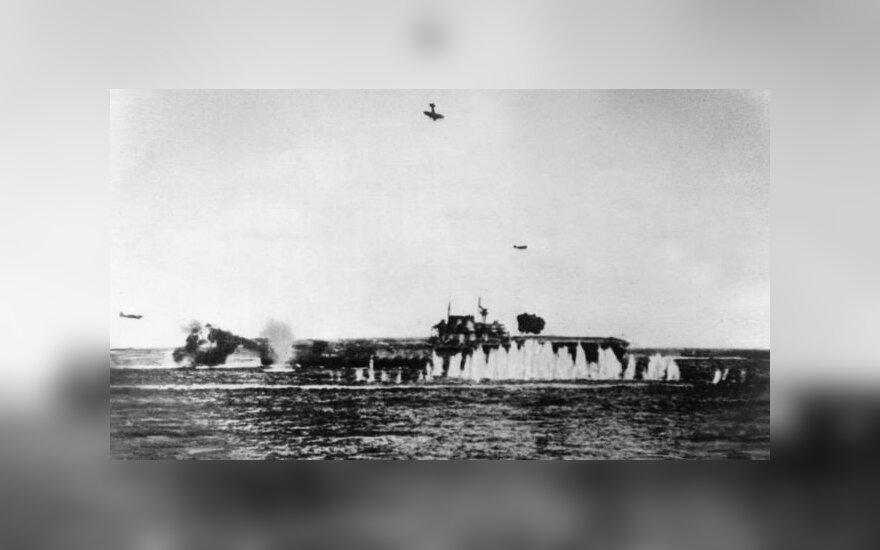 """Найден знаменитый американский авианосец """"Хорнет"""", потопленный 77 лет назад"""
