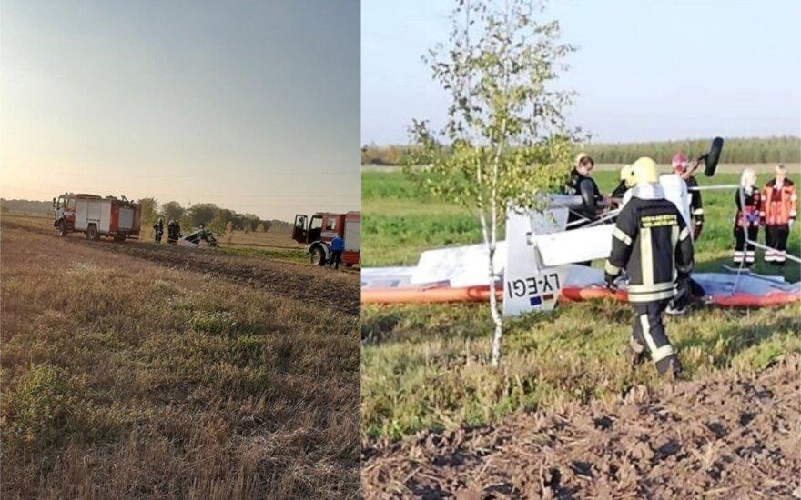 В Паневежском районе разбился самолет: погиб пилот