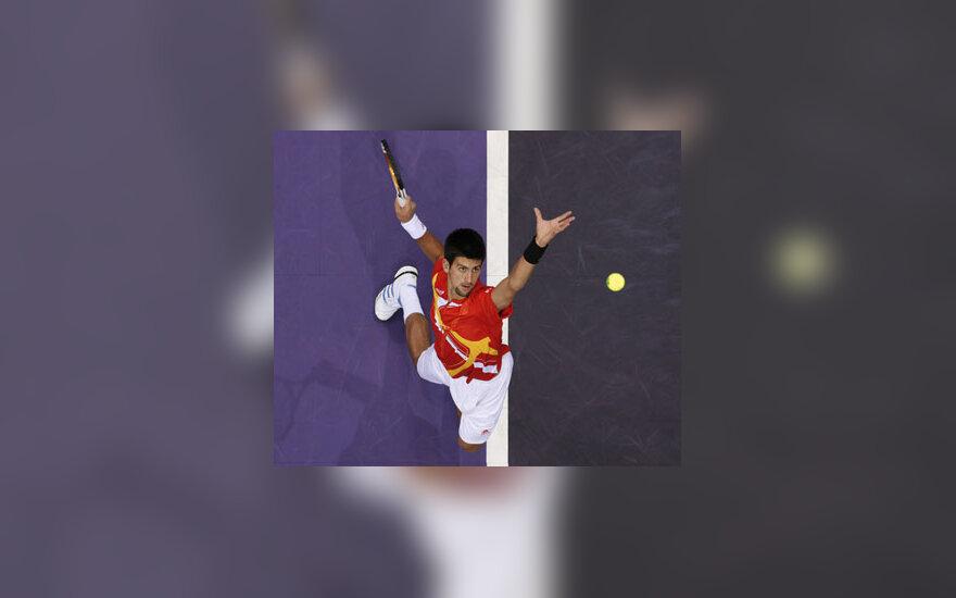 Serbijos tenisininkas Novakas Djokovičius