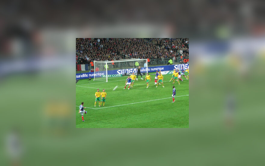 2008 m. Europos futbolo čempionato atrankos turnyras. Prancūzija - Lietuva