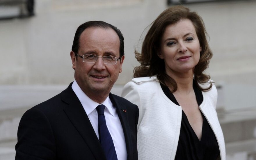 Francois Hollande'as ir Valerie Trierweiler