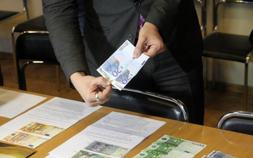 В Литве – бум фальшивых евро