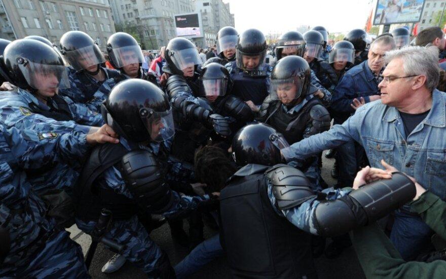 СКР: пенсионерка призналась в применении насилия к ОМОН