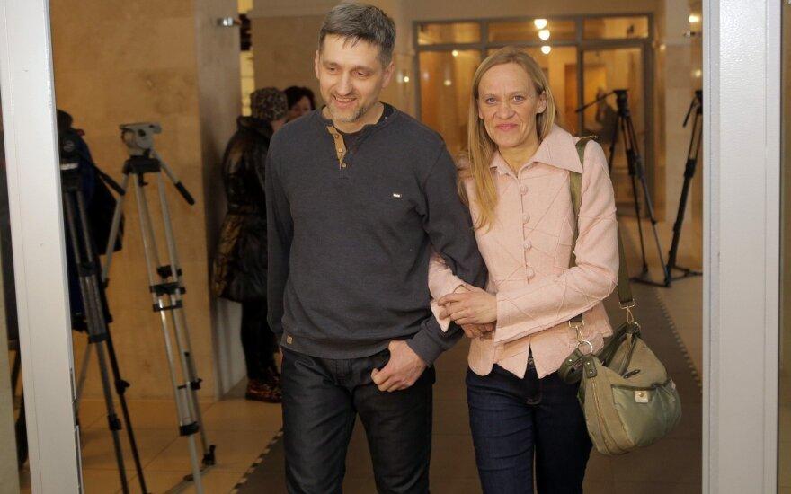 Gintaras ir Eglė Kručinskai teisme
