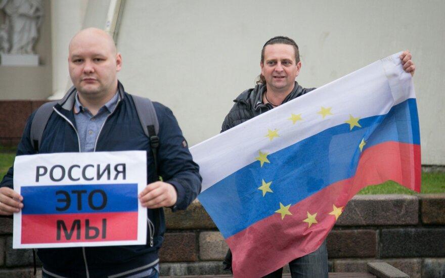 В Вильнюсе прошел митинг протеста российской оппозиции: Россия - это мы
