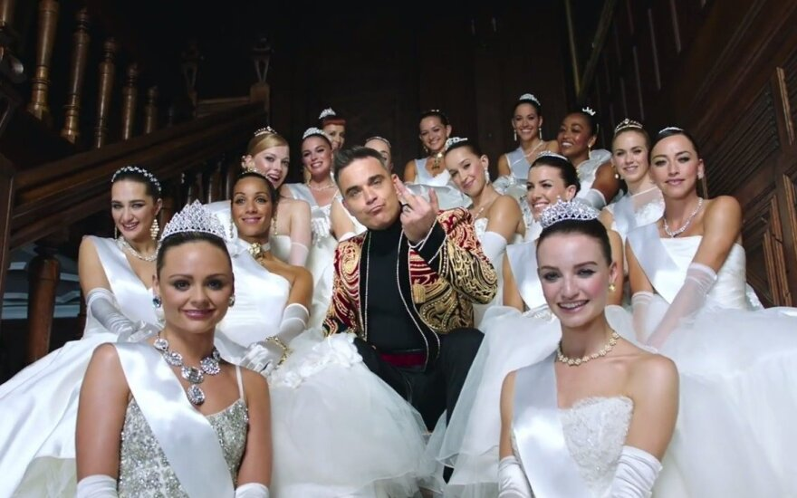 Kadras iš Robbie Williams klipo