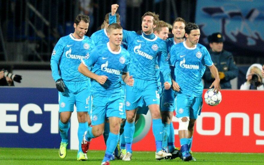 """""""Zenit"""" klubo futbolininkai"""