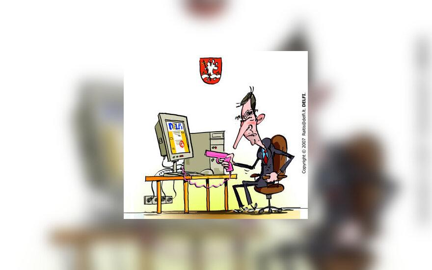 Artūras Zuokas kovoja su interneto komentatoriais - karikatūra