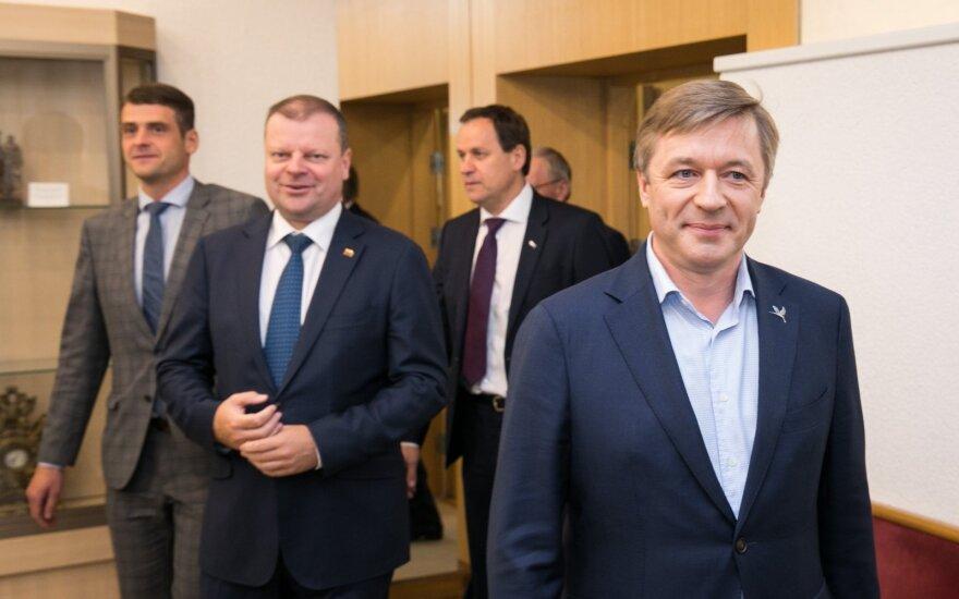 Ramūnas Karbauskis, Saulius Skvernelis, Remigijus Žemaitaitis, Valdemaras Tomaševskis