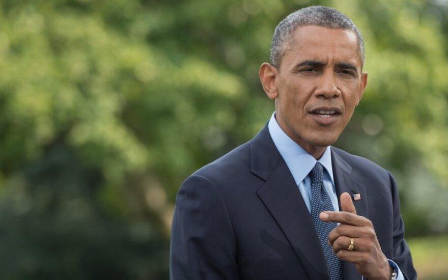 Barackas Obama praneša apie naujas sankcijas Rusijai