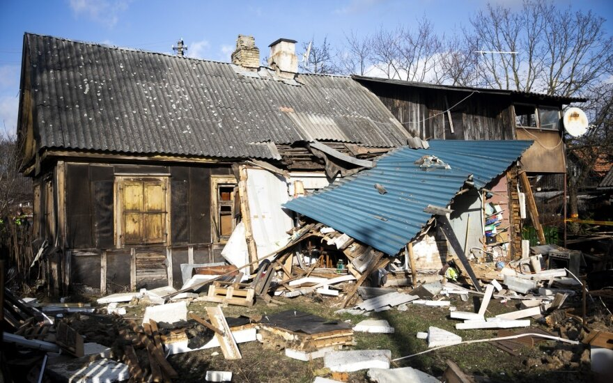 В Вильнюсе взорвался дом, пострадали люди