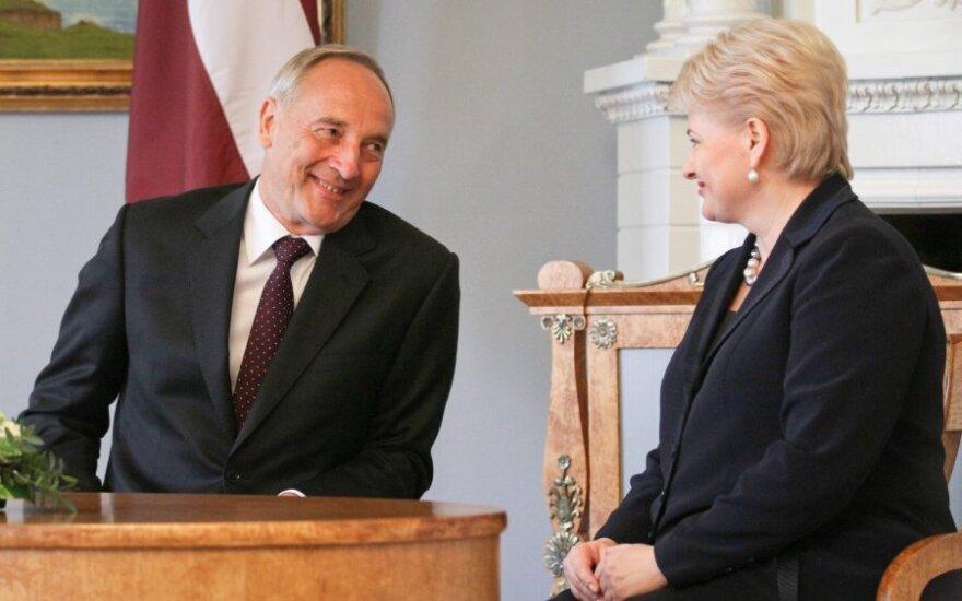 Andris Berzinis ir Dalia Grybauskaitė