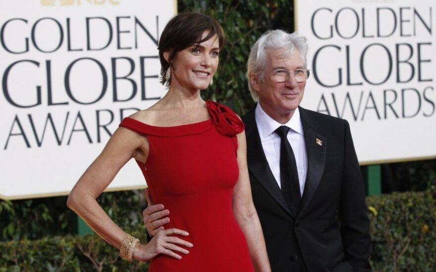 Richardas Gere'as su žmona
