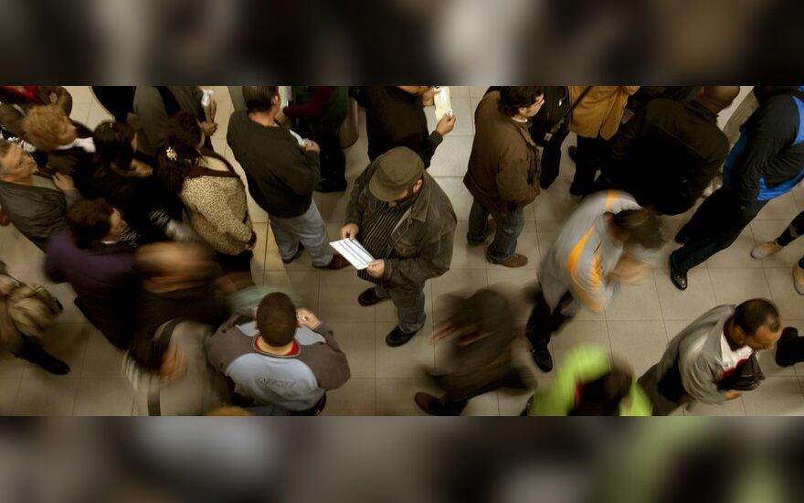 Žmonės, bedarbiai, nedarbas, minia