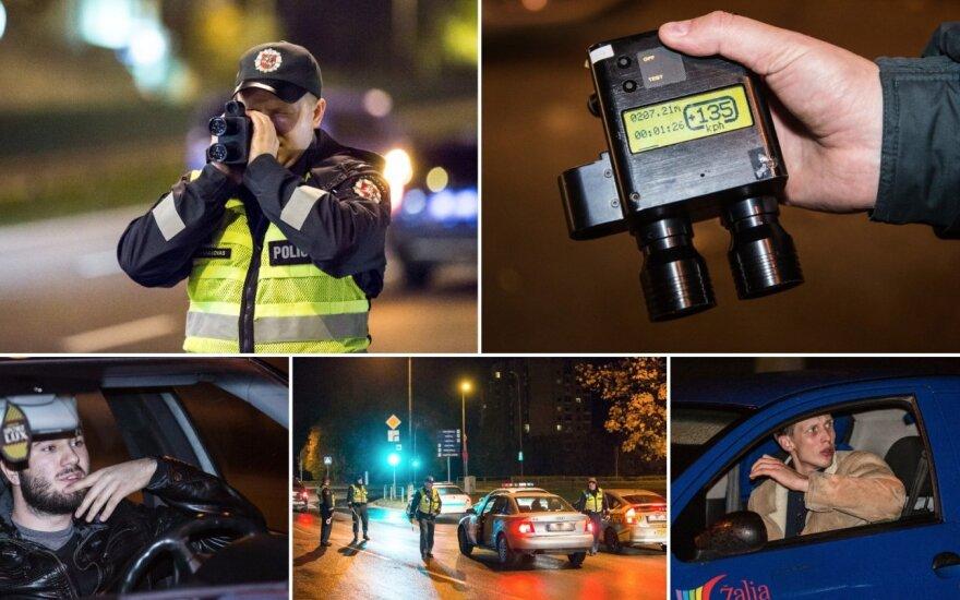 Ночь в Вильнюсе: водитель ехал на скорости 135 км/ч