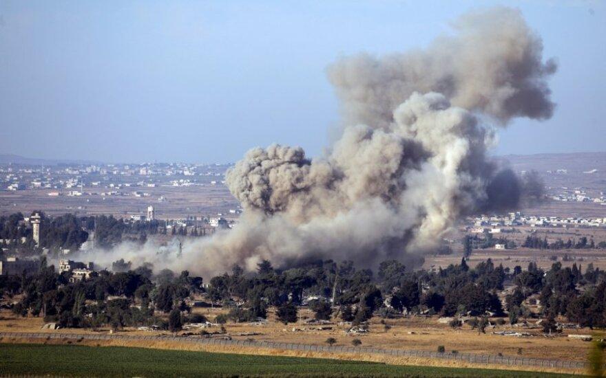 Izraelio oro pajėgos smogė Sirijos kariuomenės pozicijoms