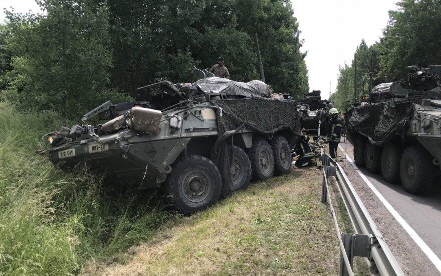 Столкновение бронетехники в Пренайском районе: пострадали 13 военных США