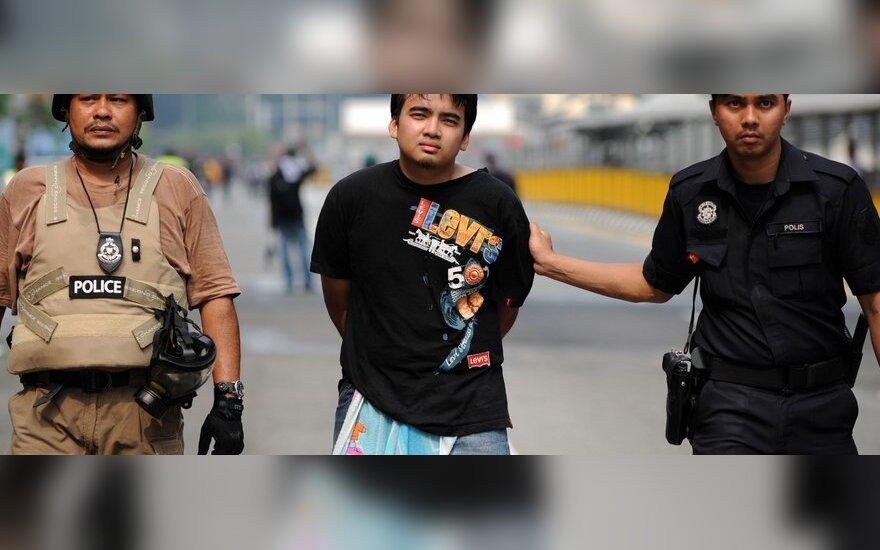 Policijos susirėmimai su protestuotojais Malaizijoje