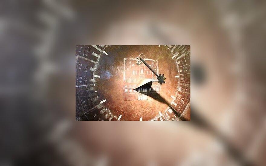 Во Львове создали трехметровые часы из шоколада