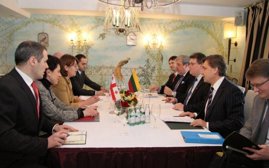 L.Linkevičius susitiko su Gruzijos užsienio reikalų ministre Maja Pandžikidze