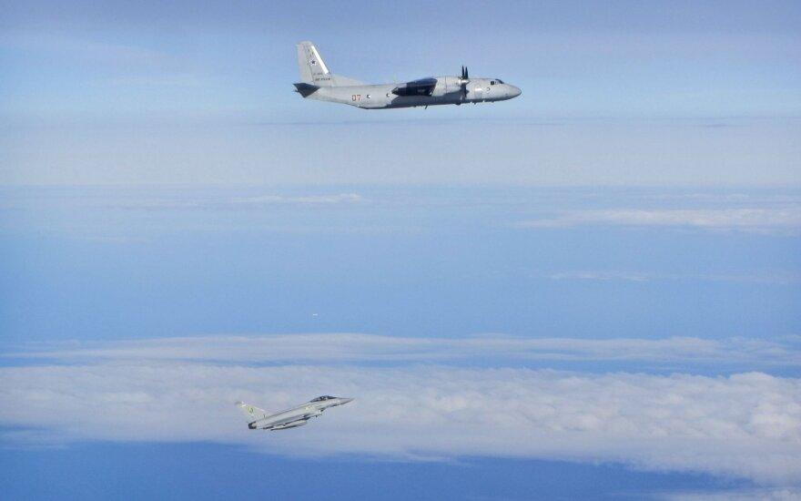 За неделю - один самолет ВВС РФ, сопровожденный истребителями НАТО