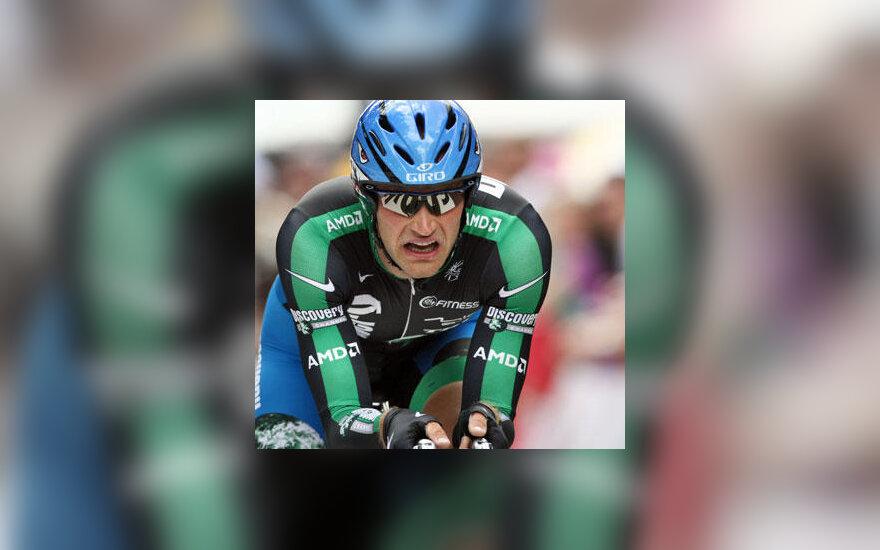 """Tomas Vaitkus įveikia """"Tour de France"""" prologą"""